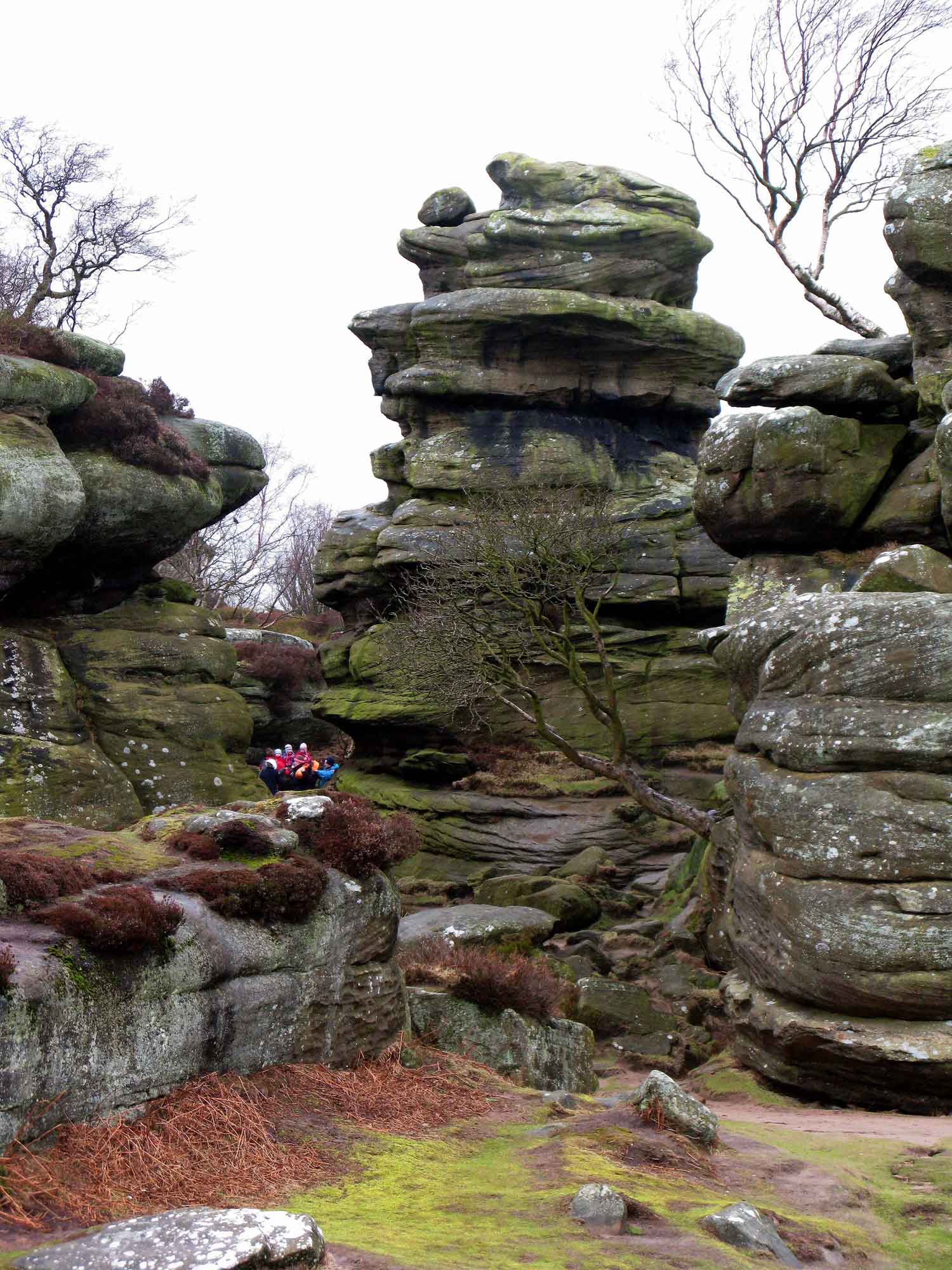 2008 02 23 Brimham Rocks Tor and party
