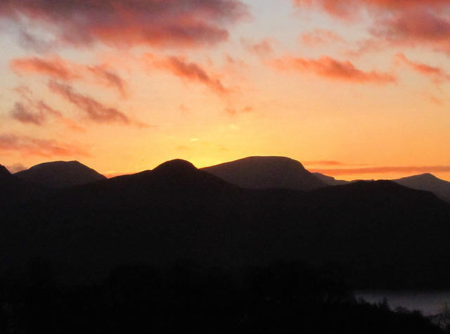 2012 01 05 Derwent water sunset 2