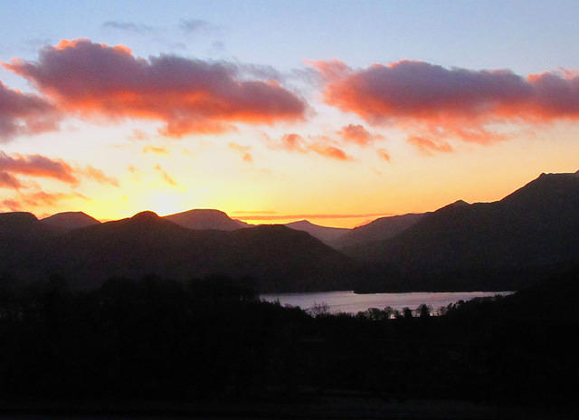 2012 01 05 Derwent water sunset 3