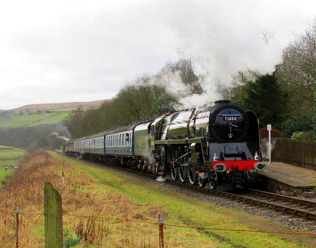2012 02 25 ELR Irwell Vale Duke of Gloucester at the platform  FOR MORE TRAINS see TRAINS album