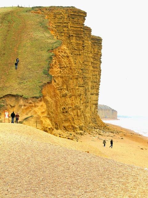 2015 02 11 West Bay Bridport Sands cliff