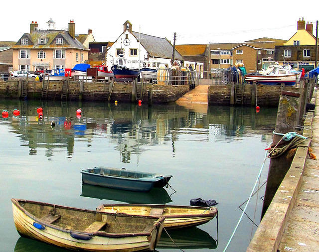 2015 02 11 West Bay Quay and church