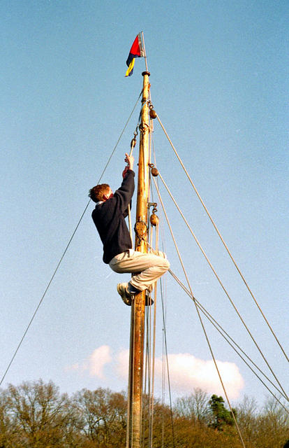 1994  Andrew up the mast.jpg