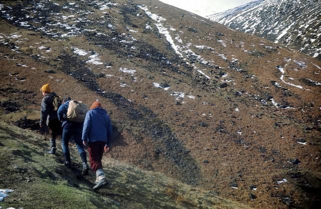 1970   Andrew, Peter and Martin on the trail