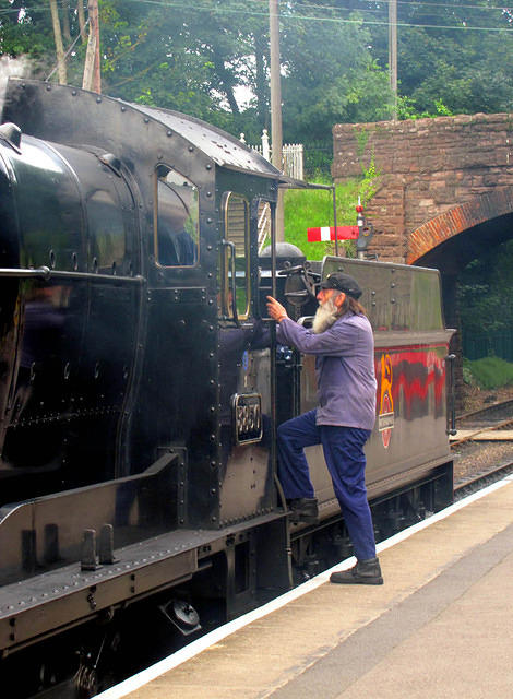 2012 07 19 West Somerset Bishops Lydeard Pilot coming aboard