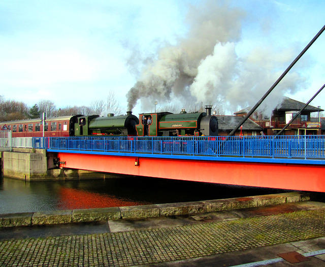 2014 02 15 Preston Docks Bagnall Courageous and Hunslet Walkden double heading