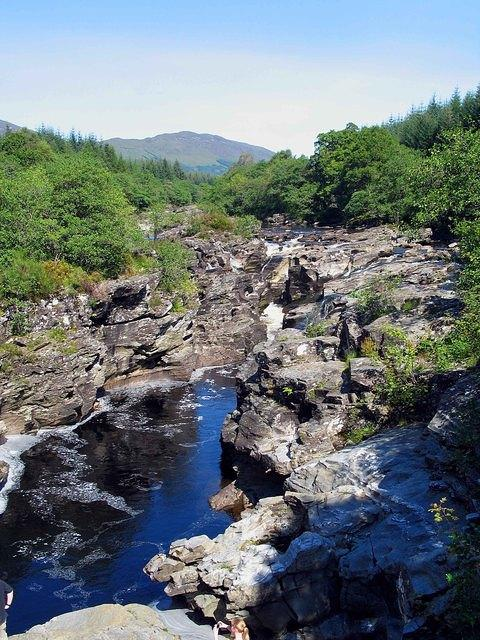 07 08 22  Glen Orchy Eas Urchaidh gorge upstream with Beinn Inverveigh [2097' hill above mouth of Veigh].jpg