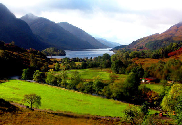08 10 01  Glenfinnan [valley of St Finan] and Loch Shiel [sheltered inlet] from the viaduct