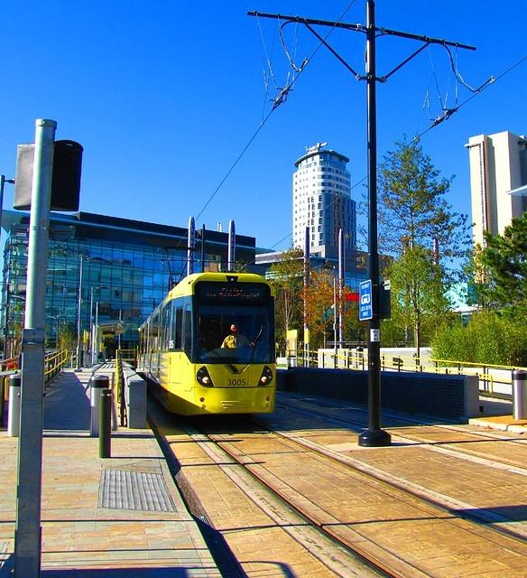 2010 10 20  Media city Metro tram for Eccles