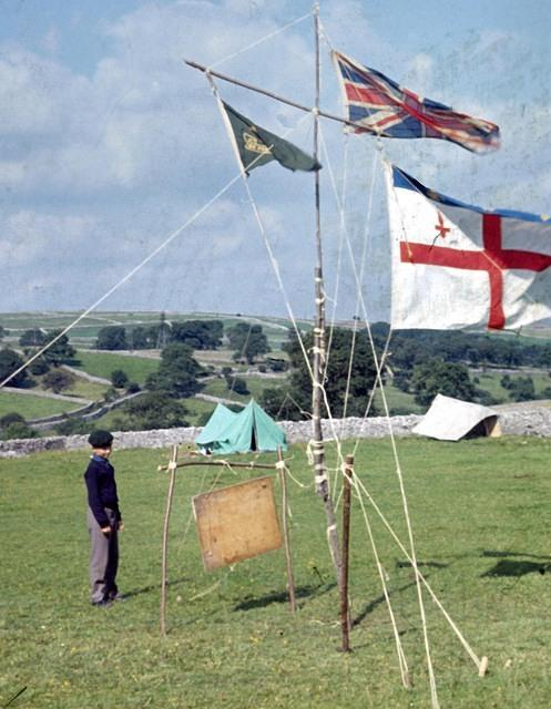 1968  Flagpole at Taddington Hall