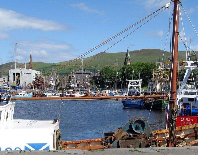 A   Girvan  Harbour and Spires.jpg