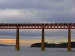 2008 03 13  Queensferry -  rail bridge at sunset