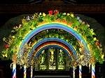 2008 07 21  Helsington church Flower festival  Rainbow arch