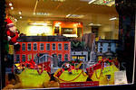 2010 12 31  Cockermouth  Window display - We saw three SKIPS