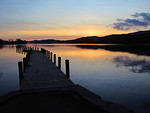 2012 01 12 Sunset at Coniston with jetty