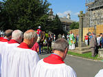 2013 08 25 Cartmel Priory Steeplechase Sunday Horse is blessed