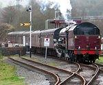 2008 01 26 ELR Rawtenstall  Princess Elisabeth arrives from Bury