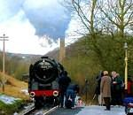 2009 02 13  WVR  Oliver Cromwell shutting off steam at Haworth