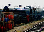 2012 03 22 West Somerset steam gala Bishop's Lydeard S&D 7F 2-8-0 making ready