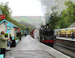 2012 05 11 Grosmont BR 4MT from Llangollen on freight duty