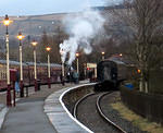2013 02 03 ELR Rawtenstall station LIghting up time