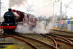 2014 02 01 Carnforth Galatea with Mountain express