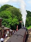 2014 07 17 Goathland The Green Knight gets up steam