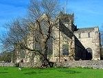 Churches Cartmel Priory and tree.jpg
