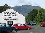 07 08 23  11.15 am  Callander [place with hard water] Weaving Shed and Ben Ledi [hill with steep side].jpg