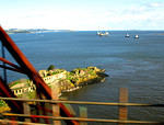 08 10 03  The Firth of Forth  Forth Bridge and Inch Garvie