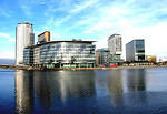 Salford Quays The Lowry Media City UK and Metrolink