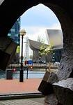 2014 04 23 Salford Quays Through the sculpture